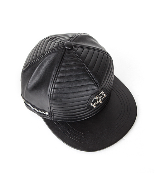LEATHER QUILTING SNAPBACK
